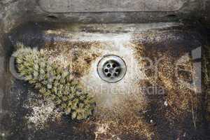 dirty, unhygienic washbowl
