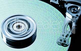 hard disk drive in motion with data - (zero-six)