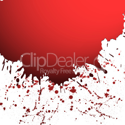 Red drop ink splatter