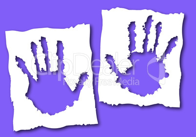 Paper with hand hole