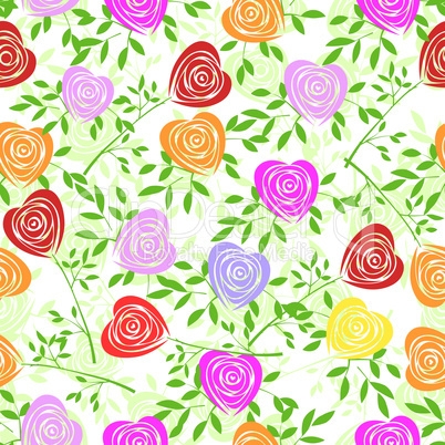 Seamless flower background.