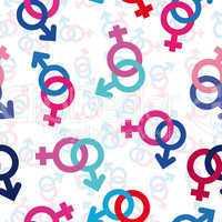 Seamless gender background