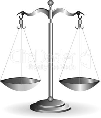 Metal balance scale silver