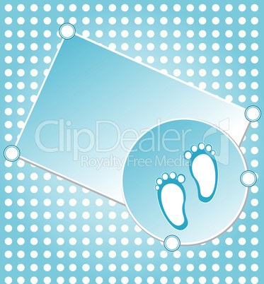 baby boy announcement greeting card. vector illustration