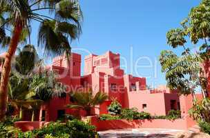 Building of the oriental style luxury hotel, Tenerife island, Sp