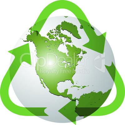 recycle earth globe