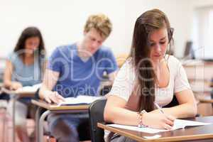 Students doing an assignment
