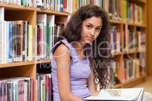 Student holding a book