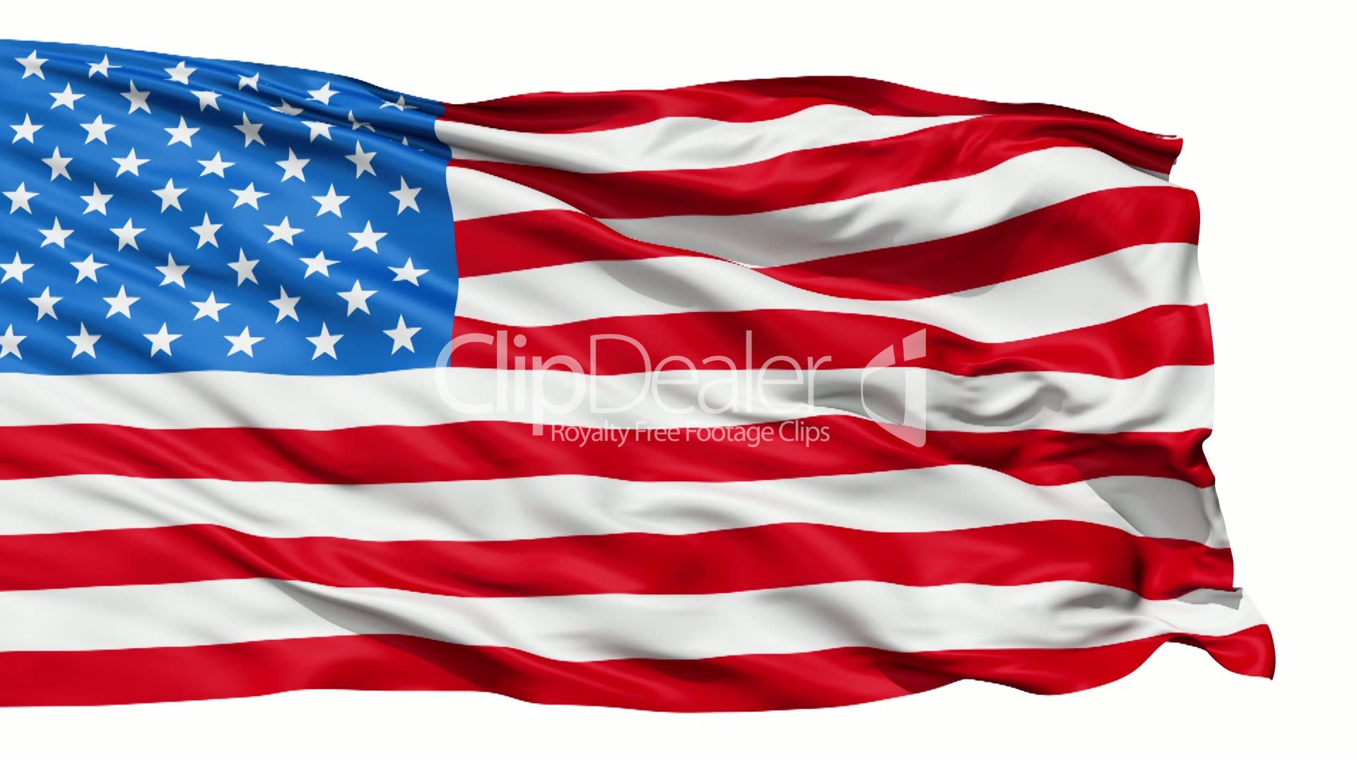 7ba37b2aa5d Realistic 3d seamless looping USA flag waving in the wind.  Royalty-free  video and stock footage