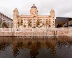 Three Graces building in Liverpool