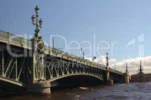 Russia, Saint-Petersburg, Troitsky Bridge