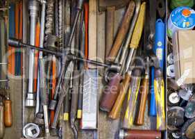 tools in drawer