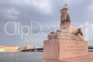 Russia, Saint-Petersburg, granite sphinxes