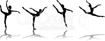 ballerina, vector illustration