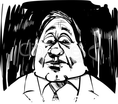 startled man caricature illustration