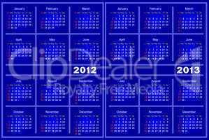 Blue Calendar.