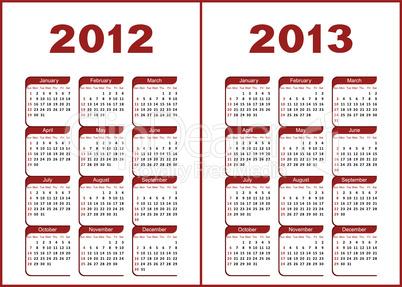 Calendar 2012,2013.