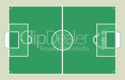 Detailed Soccer field background texture Vector