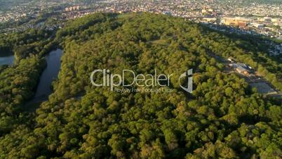 Aerial view of the Suburbs of New Jersey, New York, North America, USA