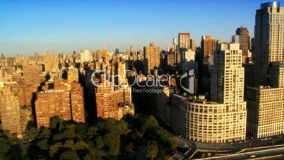 Aerial view of Midtown Manhattan, New York City, North America, USA