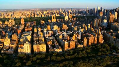 Aerial view of Central Park, West Side, and Midtown Manhattan,NY, USA
