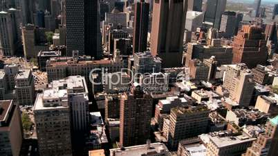 Aerial view of Midtown Manhattan and New York City, America, USA
