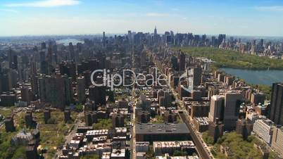 Aerial view of the Upper East Side and Central Park, Manhattan, NY, USA