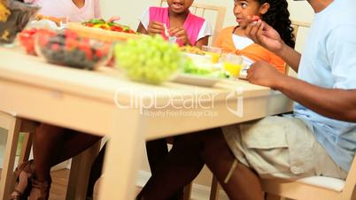 Table of Healthy Lunch Food for Ethnic Family