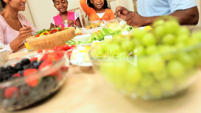 Young African American Family Healthy Eating