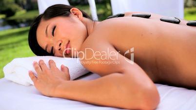 Asian Girl at Health Spa Resort