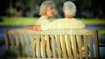Senior Couple Enjoying Golden Years Outdoors in Park