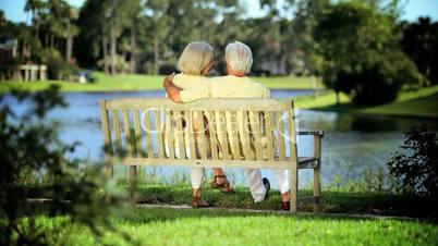 Content Senior Couple Enjoying Retirement Lifestyle
