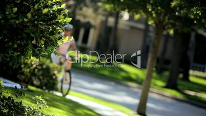 Senior Couple Healthy Cycling Lifestyle