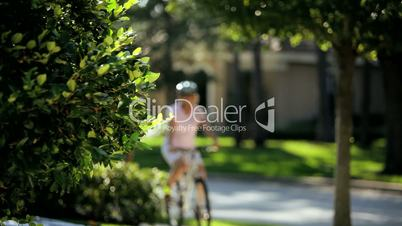 Fit & Healthy Retired Couple Cycling Together