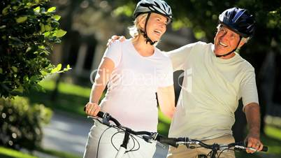 Portrait of Fit & Healthy Cycling Seniors
