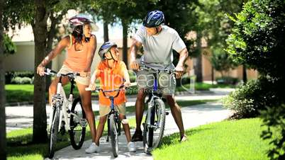 Healthy Lifestyle Cycling of Young Ethnic Family