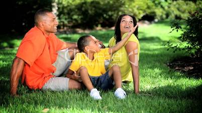 Healthy Ethnic Family Spending Time Outdoors
