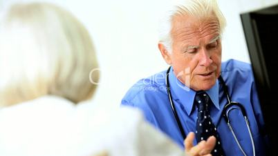 Male Medical Consultant Meeting with Patient