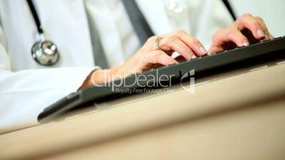 Senior Female Consultant Using Internet Communication