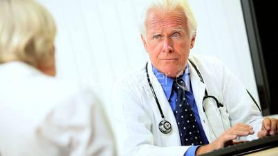 Senior Medical Consultant with Patient