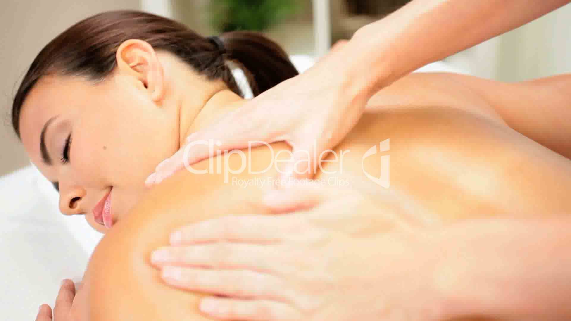 Beautiful Girl Receiving Body Massage Therapy Royalty -6885