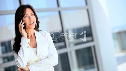 Female Caucasian Business Executive with Smartphone