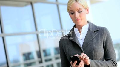 Young Female Business Executive Talking on Smartphone