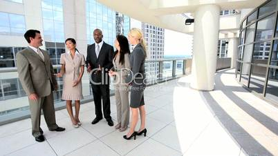 Team of Five Multi Ethnic City Business People