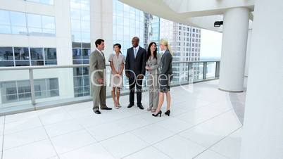 Multi Ethnic Business Team Using Modern technology
