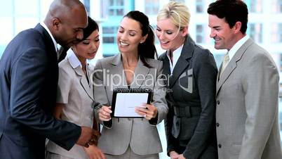 Business People Working with Wireless Tablet