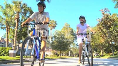 Retirement Healthy Lifestyle with Cycling Seniors