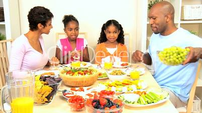 African American Family Healthy Eating