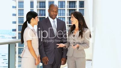Modern Multi Ethnic Business Team Meeting Together