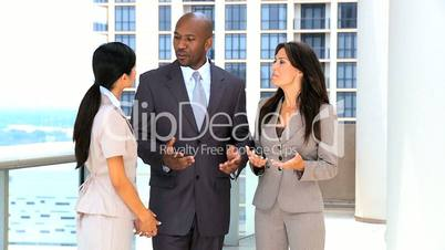 Young Multi Ethnic Business Team in Modern Office Building